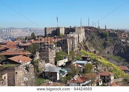 Ak-Kala fortress on the hill Hissar. Ankara. Turkey.