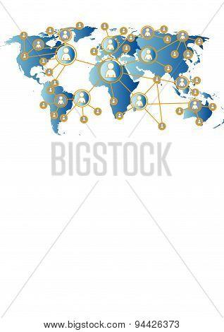 social media graphic / illustration world map