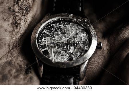 Damaged Watch In Hand