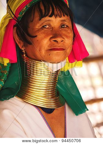 Long Neck Woman In Thailand