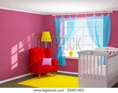 Baby Room With Armchair