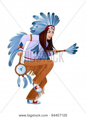 Ethnic Dance Of Cartoon Injun