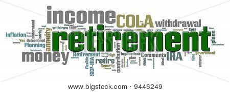Ruhestand Schlagwortwolke