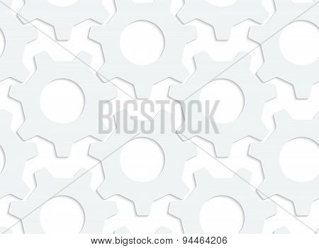 Paper White Simple Gears
