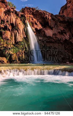 Havasu Falls, waterfalls in the Grand Canyon, Arizona
