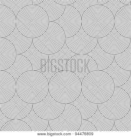 Slim Gray Striped Overlapped Circles Random