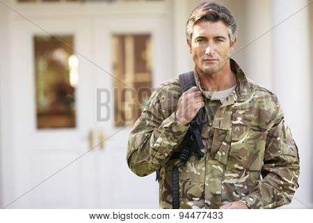 Soldier Returning To Unit After Home Leave poster