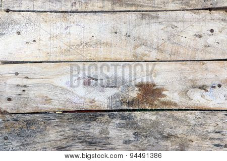 Old wooden plank with oil.