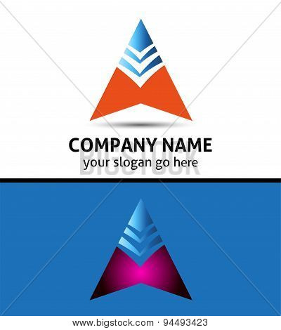 Success business arrow boost up vector logo icon