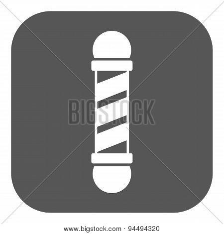 The Barber Pole Icon. Barbershop Symbol. Flat