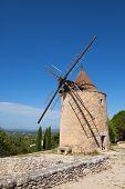Old stone windmill in Saint Saturnin les Apt Provence France poster