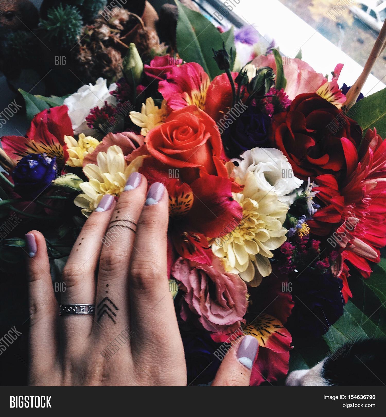 Bouquet Beautiful Image Photo Free Trial Bigstock