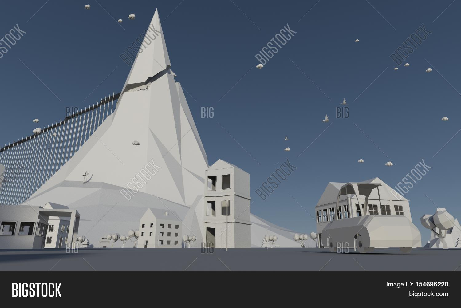 Low Poly City 3D, Image & Photo (Free Trial) | Bigstock