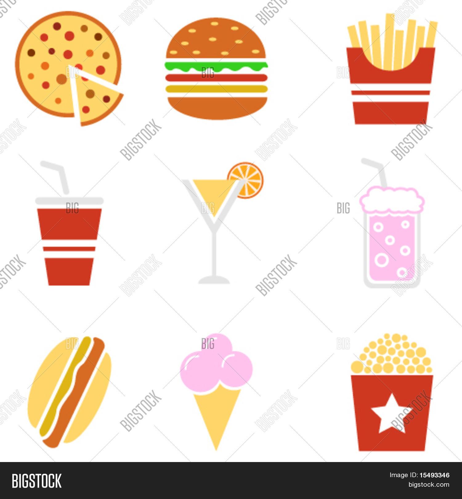 Fast Food Symbols Vector Photo Free Trial Bigstock
