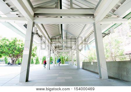 Traditional style corridor in Hong Kong, China