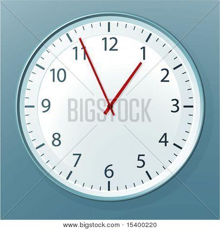 Office clock. Vector.