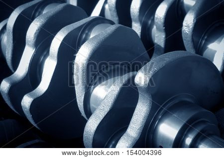 Parts manufactured by the car manufacturer: crankshaft close-up.