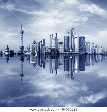 Landmark Building, Lujiazui Financial District, Shanghai, China.