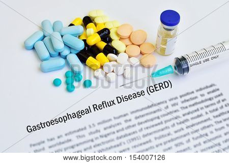 Syringe with drugs for gastroesophageal reflux disease (GERD)