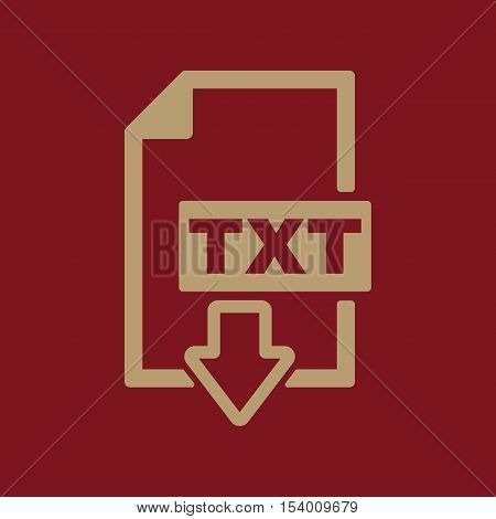 The TXT icon. Text file format symbol. Flat Vector illustration