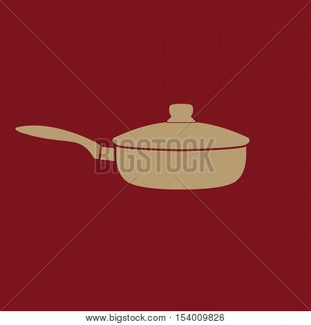 The pan icon. Dripping Pan symbol. Flat Vector illustration