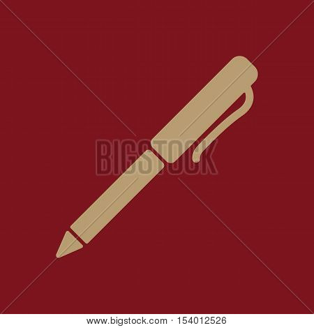 The pen and ballpoint icon. Writing symbol. Flat Vector illustration