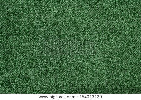Closeup green towel cloth and green towel texture from towel beach for background and design with copy space for text or image.