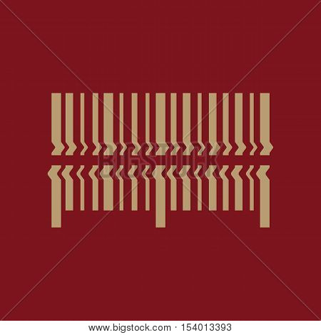 Scan the bar code icon. Barcode scanning symbol. Flat Vector illustration