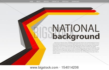 Germany flag national abstract background. Vector Illustration