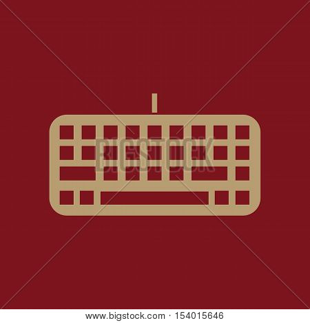 The keyboard icon. Keypad and input, typing, communication symbol. Flat Vector illustration. Button
