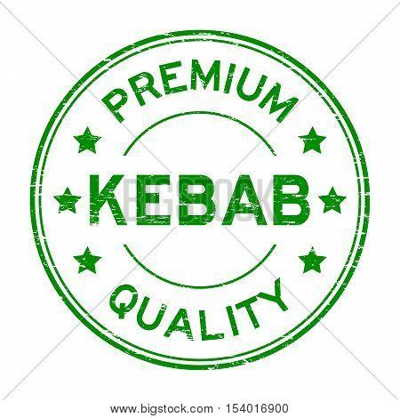 Grunge green premium quality kebab rubber stamp