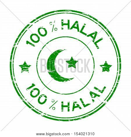 Grunge green 100 % HALAL rubber stamp