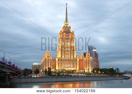 MOSCOW, RUSSIA - SEPTEMBER 07, 2016: The Radisson Royal Hotel (former