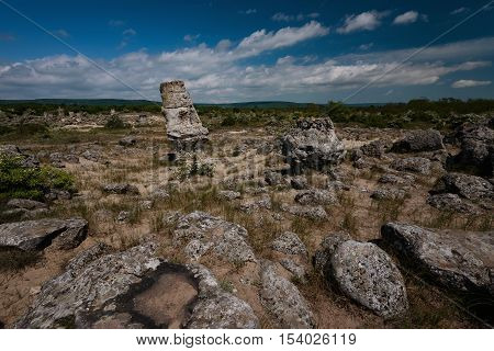 Pobiti Kamani, also known as The Stone Desert, is a desert-like rock phenomenon located on the north west Varna Province border in Bulgaria