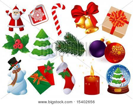 Christmas icons vector set.