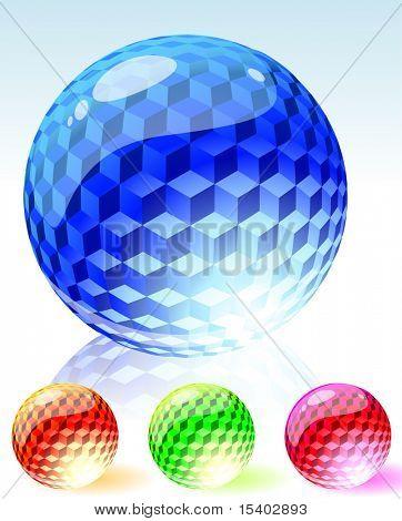 Refracting spheres. Vector.