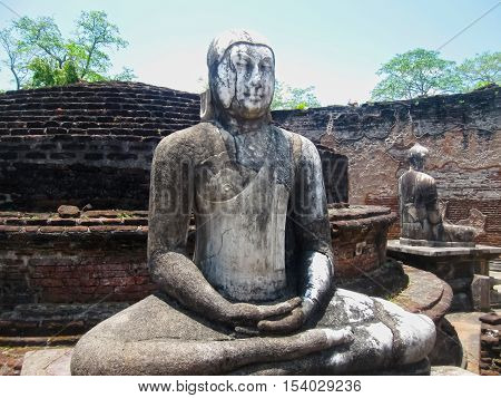 Buddha in Polonnaruwa temple - medieval capital of CeylonUNESCO