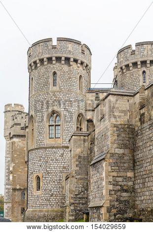 Details of Windsor Castle in Windsor England United Kingdom