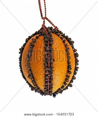 Orange Pomander Fruit, studded with clove spice
