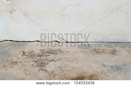 background textured surface cement paint off on seam the wall and floors