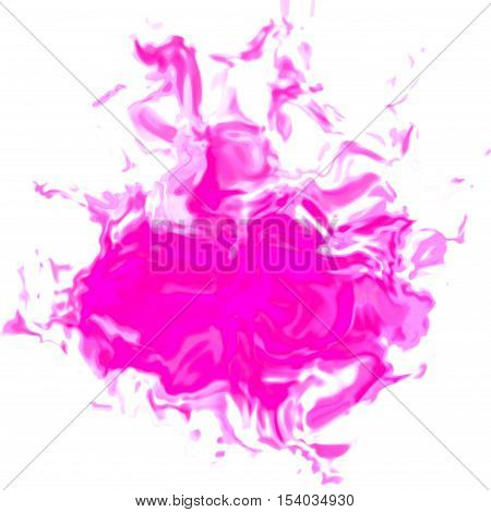 Bright pink irregular abstract graphic stain spot