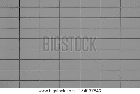 View of a Grey tiled wall suitable for backgrounds