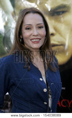 Barbara Carrera at the Los Angeles premiere of 'The Bourne Supremacy' held at the Cinerama Dome in Hollywood, USA on July 16, 2004.