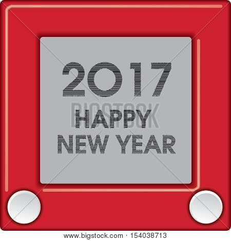 2017 Creative Happy New Year graphic for Print or Web