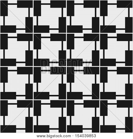 Seamless geometric pattern in op art design. Vector illustration.