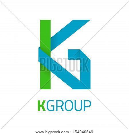 K letter vector logo design. K Vector sign. Logotype symbols. Logo icon design