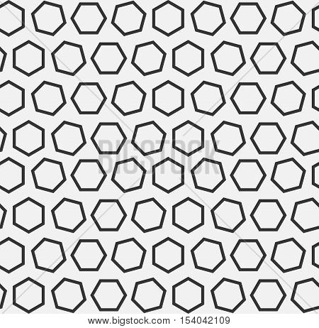Hexagons texture with lines. Seamless vector geometric pattern