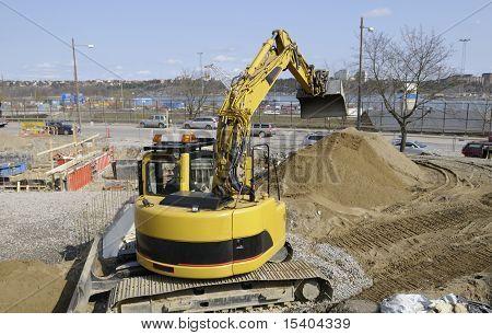 bulldozer, digger at works