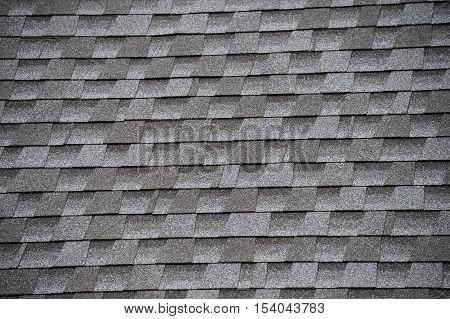 close up on roof shingle background for design