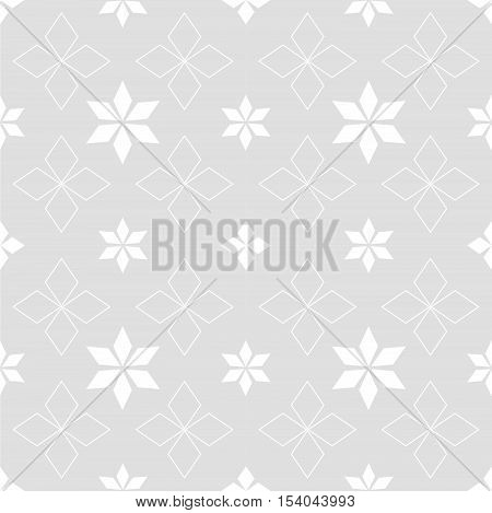 Abstract snowflakes and stars on a gray background Ethnic Scandinavian pattern Ethnic Scandinavian pattern Scandinavian Nordic pattern Folk art, Winter theme Winter seamless pattern Christmas quilt.